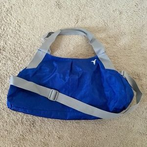 Old navy blue gym bag
